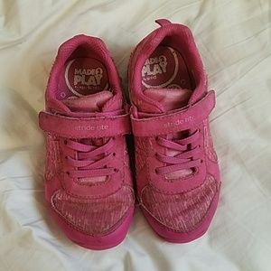 Pink stride rite shoes